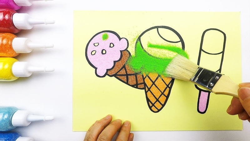 Sweet Ice cream coloring drawing for kids ㅣ 달콤한 아이스크림 그리고 색칠하기