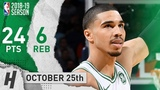 Jayson Tatum Full Highlights Celtics vs Thunder 2018.10.25 - 24 Pts, 6 Reb!