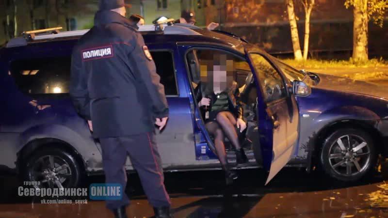 Задержание пьяного на Ларгусе в Северодвинске.