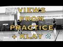 Views from practice incl Klay splashing w/ Alfonzo McKinnie Jordan Bell Livingston/Danuel House