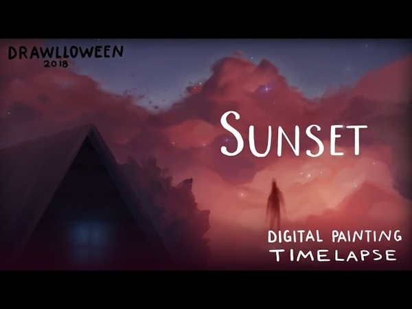 Sunset process DRAWLLOWEEN 2018 day4 🌙 fictionalfriend
