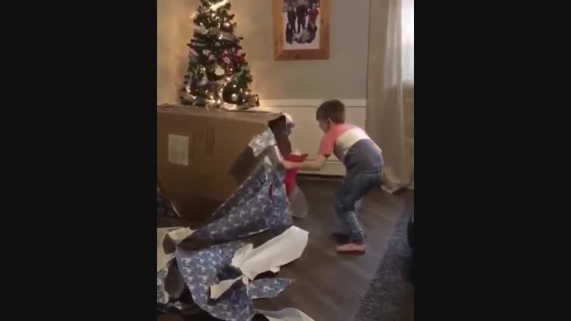 Boy only asked for one Christmas present this year and he got to open it early