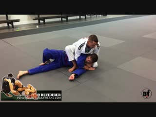 Baited armlock from mount