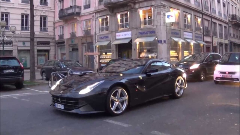 Ferrari F12 berlinetta loud start up, huge acceleration, awesome sound and more supercars