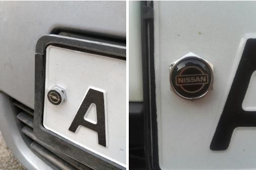 Болты крепления номерного знака с логотипом 4 шт