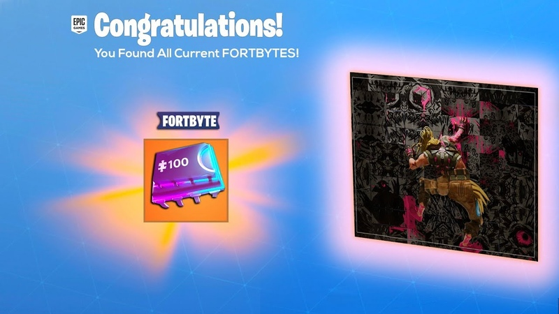 ALL FORTBYTE LOCATIONS NOW in Fortnite..