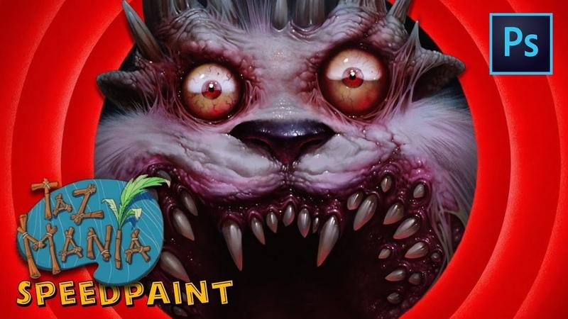 Рисуем Тасманского Дьявола | Taz Mania ost - Speedpaint by Egor.H8