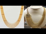 Beautiful Traditional Gold Chandraharam New Designs