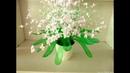 Làm hoa từ chai nhựa tái chế