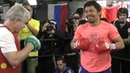 Manny Pacquiao FIRST LOOK WORKOUT w/ Freddie Roach vs Adrien Broner