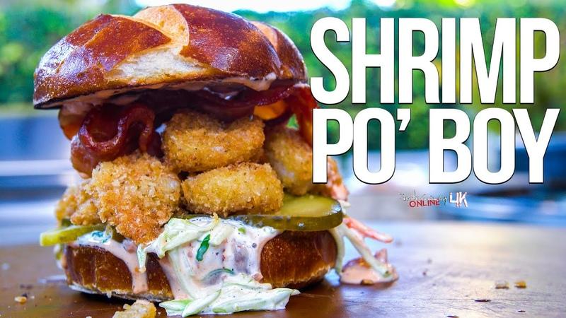 The Best Shrimp Po Boy | SAM THE COOKING GUY 4K
