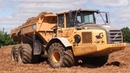 Volvo A30 LGP Dumpers With 1 Meter Wide Tires Moving Dirt
