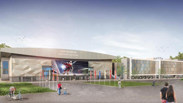 Новую хоккейную арену в Сокольниках представили на выставке в Каннах