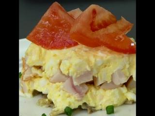 Слоённый салат - отлична оригинальная закуска, на ваш стол!