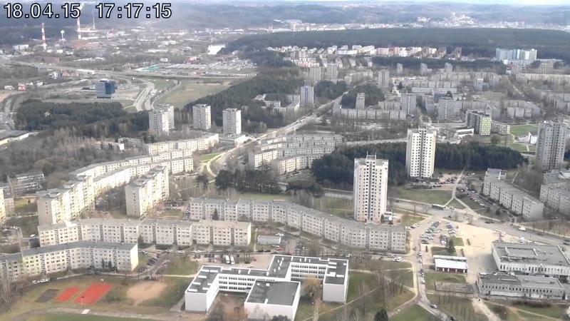 Vilniaus TV bokštas pilnas apsisukimas