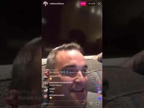Robbie Williams IG live oct 19 2018