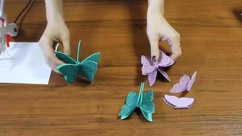 DIY Mobile. Room decor. BUTTERFLY WALL DECOR. Toran Diy. Butterfly hanging toran