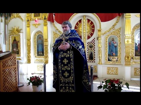 Проповедь протоиерея Романа Гуцу в Неделю 20-ю по Пятидесятнице Покров Пресвятой Богородицы