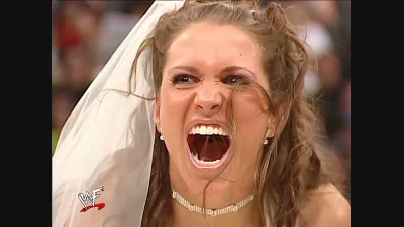 WWF.Raw.2002.02.11 - Triple H and Stephanie McMahon's wedding ceremony