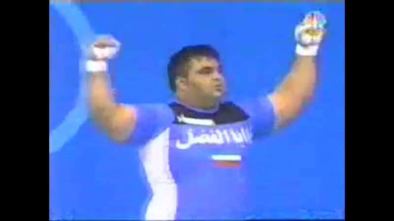 Афины 2004, Тяжелая атлетика, Мужчины 105кг 2 часть_ Weight lifting, Athens 2004