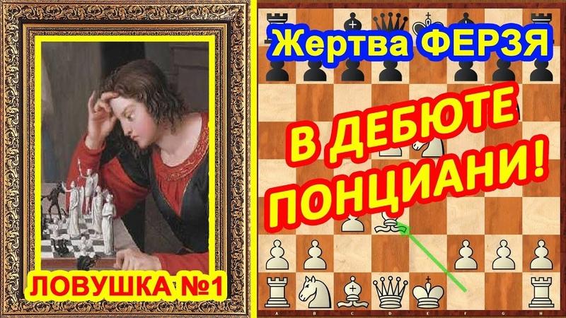 Жертва ФЕРЗЯ! ♕ Дебют Понциани ♔ Шахматы и Шахматные ЛОВУШКИ!