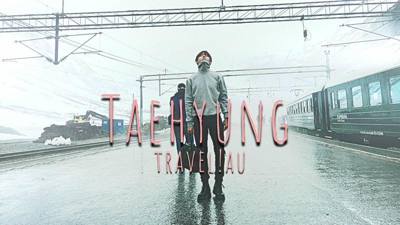 ⟣ taehyung — travel vlog | bf!au
