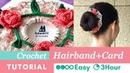 DIY Crochet Flower Hairband Double as Greeting Card | Kawarii Friends