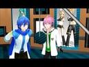 [MMD] Kaito and Vy2 Yuma sing together Guren no Yumiya (紅蓮 の 弓矢) Englisch sub and Romaji Lyrics