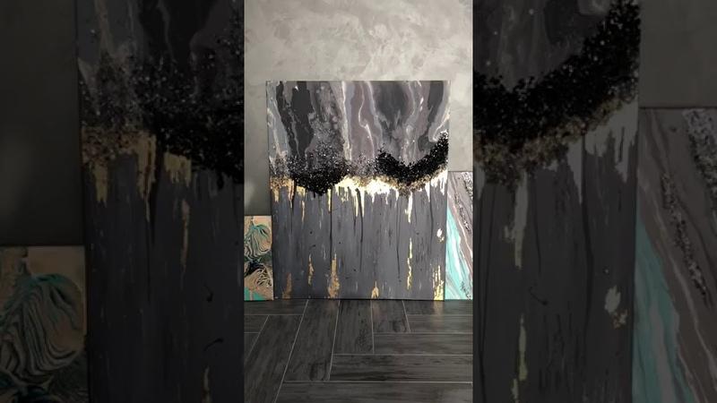 Отзыв ученицы Ольги Никишиной с курса по жидкому акрилу Fluid Art 2.0от школы Арт Лаб Онлайн