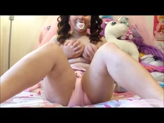 Diaper wet messy abdl girl