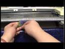 Вывязывание оборки с одновременным присоединением к полотну