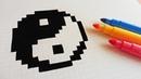Handmade Pixel Art - How To Draw Yin Yang pixelart