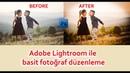 Adobe lightroom ile basit fotoğraf düzenleme / Düğün ve Çocuk Fotoğrafçılığı