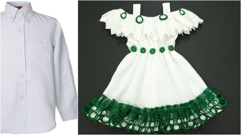 تحويل بسيط من قميص قديم إلى فستان طفله رائع