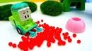 Veículos de serviço de brinquedo caminhão de lixo o ônibus e o guincho