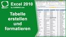 Excel Tabelle erstellen und formatieren
