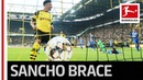 Jadon Sancho Unstoppable - 2 Goals and New Records for Dortmund's Young Gun