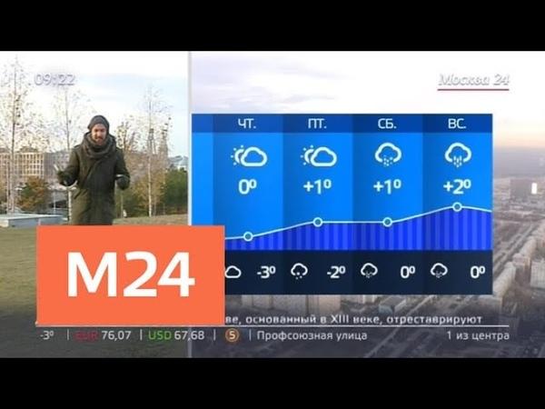 Утро облачная погода ожидается в столице 14 ноября Москва 24