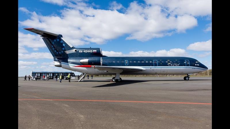 THE SIGHT THE SOUND 1/2 : Flight onboard Sirius Aero YAK-42 RA-42445 from Vnukovo to Yaroslavl