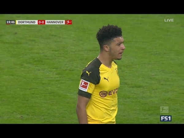 Jadon Sancho vs Hannover - Home - Bundesliga 2018-19 HD