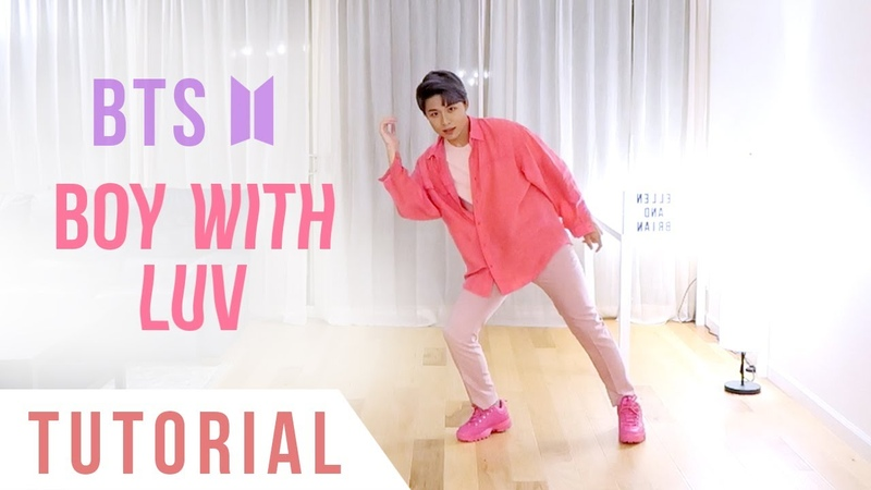 BTS - Boy With Luv Dance Tutorial (Explanation Mirrored) | Ellen and Brian