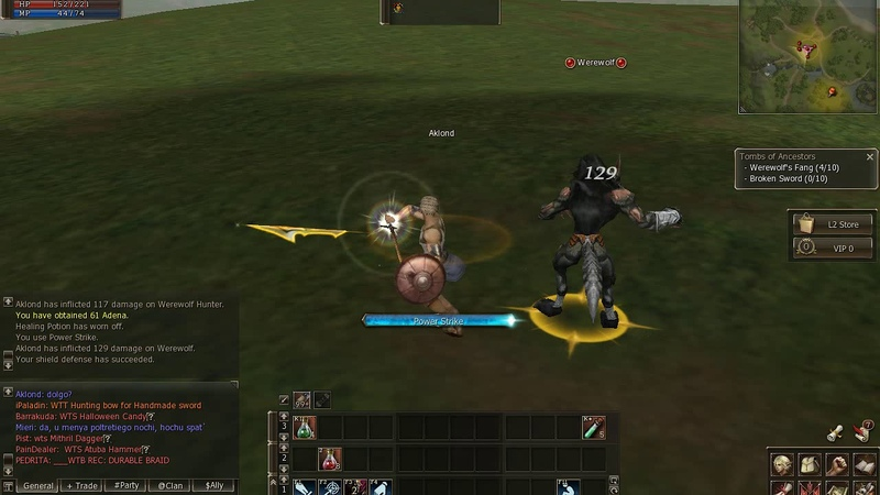 Lineage 2 NA classic Gludio Aklond exp 3-15lvl part 1