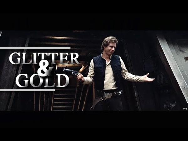 Han solo   glitter gold