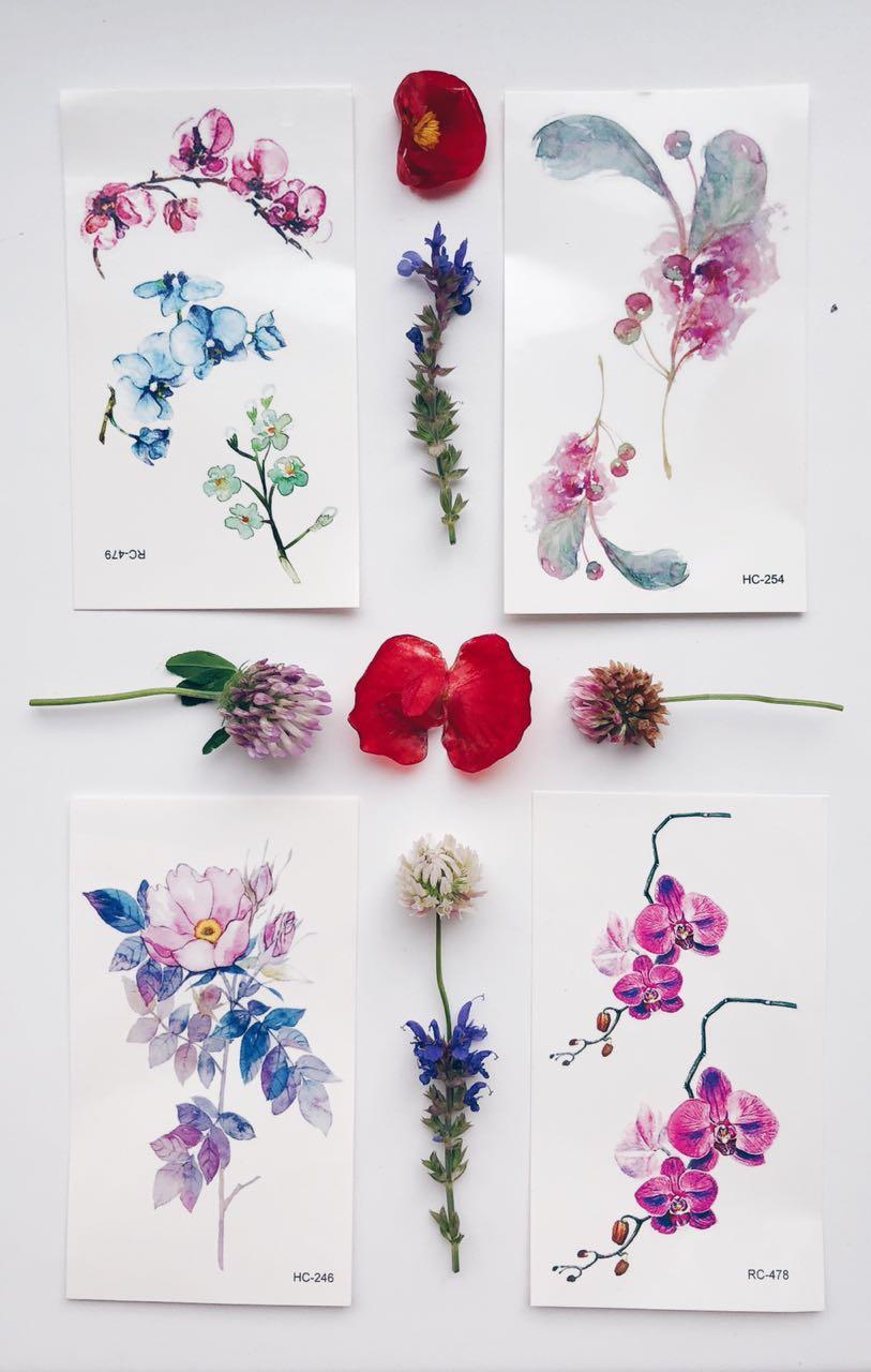 Названия цветов в виде дерева