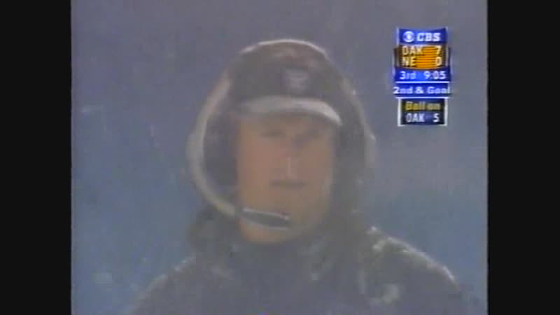 NFL 2001 TUCK RULE GAME AFC Divisional Playoffs Oakland Raiders @ New England Patriots