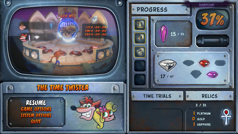 BZHALL - Crash Bandicoot N. Sane Trilogy (crash bandicoot 3 warped) part 4 (PC)
