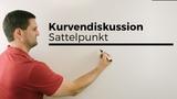 Kurvendiskussion, Sattelpunkt, Terrassenpunkt Mathe by Daniel Jung
