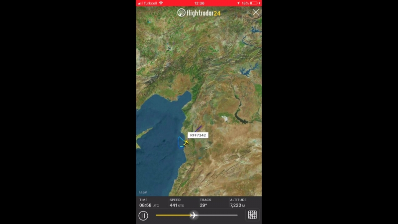 LIVE️ Russian Air Force 223rd Flight Unit Ilyushin Il-76MD plane climbing out of Humaymim Russian AFB in Latakia Syria about to