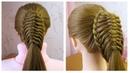 Queue de cheval originale et simple 🔹 Coiffure avec tresse 🔹 Easy braided ponytail tutorial