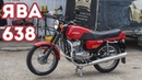 Мотоцикл Ява 350 638 Люкс. Восстановлен мотоателье Ретроцикл.